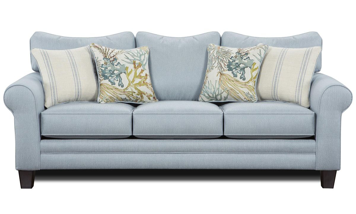 Picture of Labyrinth Sky Roll Arm Queen Sleeper Sofa