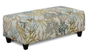 Coral Reef Caribbean Cocktail Ottoman