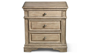 Highland Park 3-Drawer Nightstand Driftwood