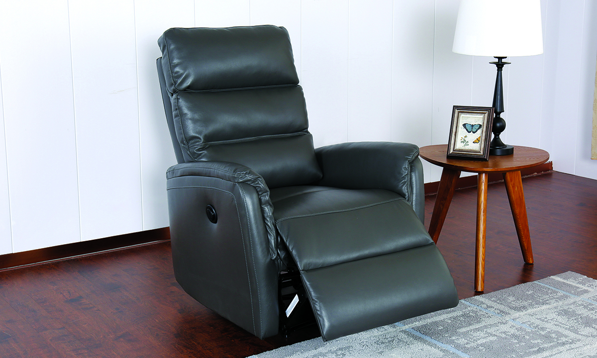 Contemporary Triple Back Wall Away Power Recliner