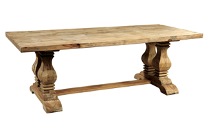 Manor House Reclaimed Pine & Elm Trestle Table