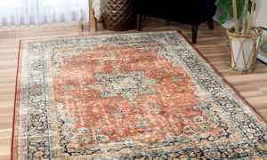 Amira Regal Red Thatch Area Rugs