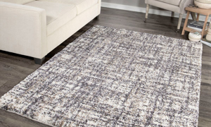 Chaima Cross Thatch Taupe Area Rugs