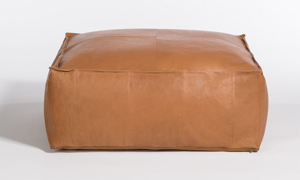 Picture of Alder & Tweed Barret Brandy Large Leather Ottoman