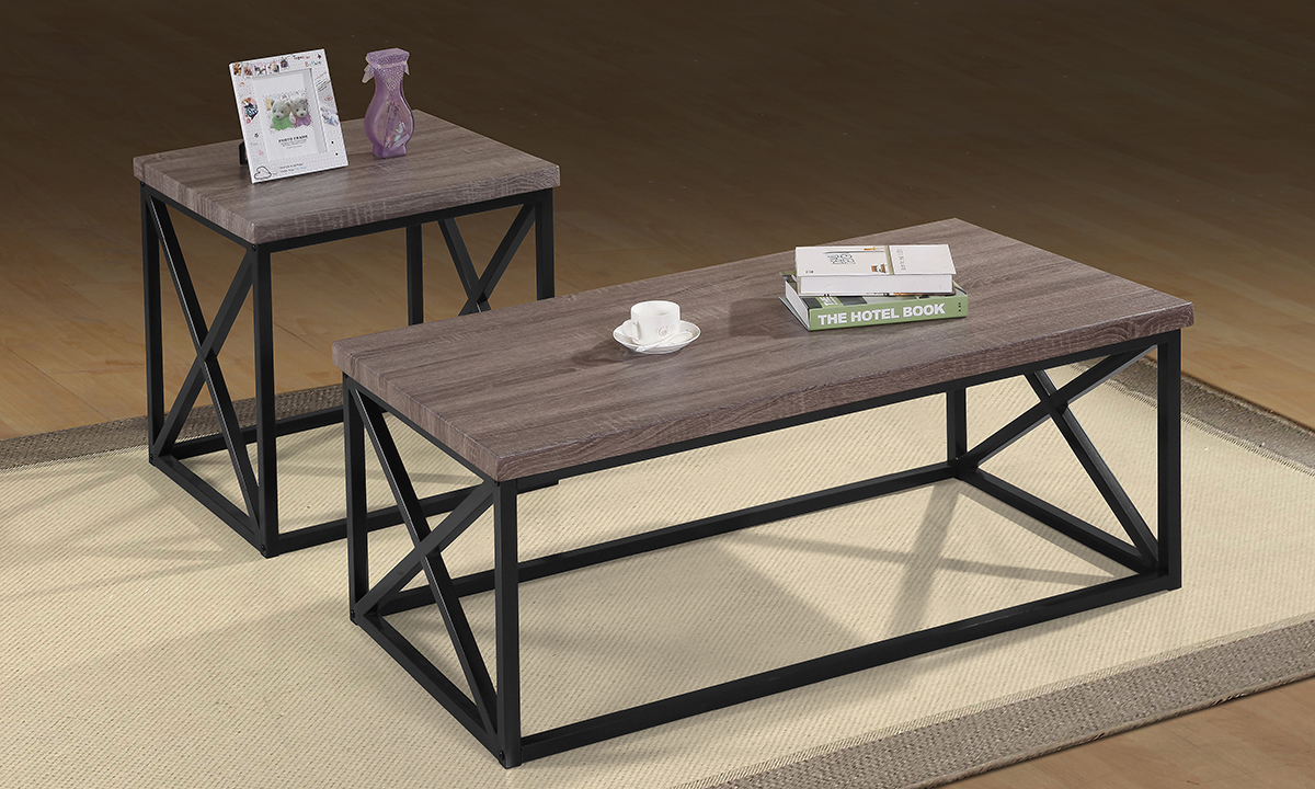 Jofran Orion Dark Grey 3-Piece Occasional Table Set