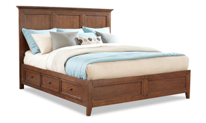 Picture of San Mateo Cherry Arts & Crafts Queen Storage Bed