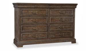 Timeless 10-drawer dresser in warm coffee brown finish from A R T St. Germain collection