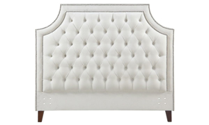 Picture of Parker House Jasmine Champagne Tufted Upholstered Queen Bed