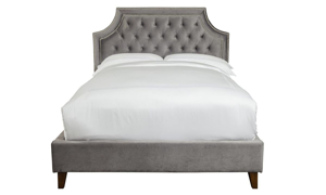 Picture of Parker House Jasmine Flannel Tufted Upholstered Queen Bed