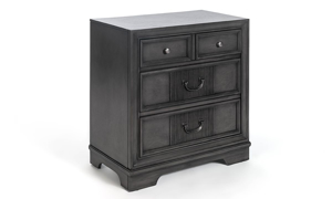 Picture of Parkhurst Grey Reeded 3-Drawer Nightstand