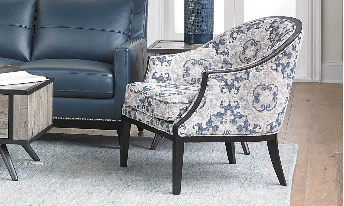 Picture of Suzani Blue Accent Chair