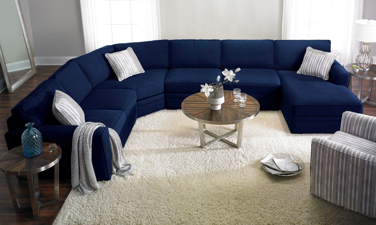 Picture of: Haynes Furniture Artemis Peyton Navy Sectionals