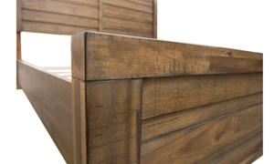 Picture of Soho Urban Rustic Acacia King Panel Bed