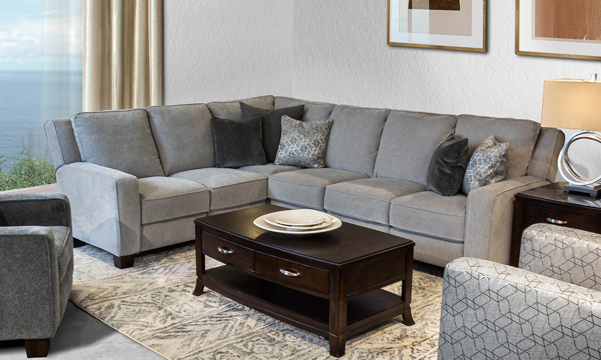 Infinite Motion West End Cobblestone 3-Piece Power Reclining Sectional