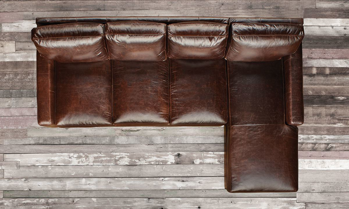 Rocky Mountain Leather Mayfair Deluxe Top-Grain Leather Sectionals
