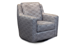 Infinite Motion West End Bangle Silver Swivel Glider Chair