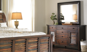 Picture of Plantation Solid Mahogany Dresser & Mirror