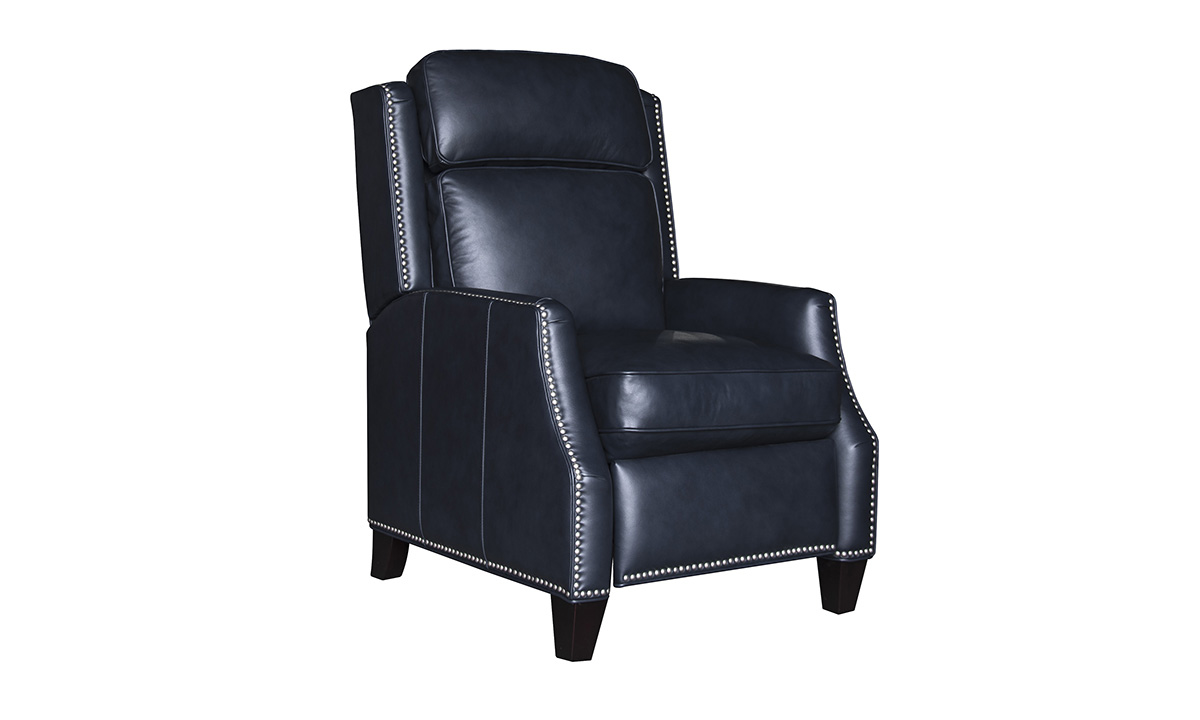Palencia Navy Leather Recliner