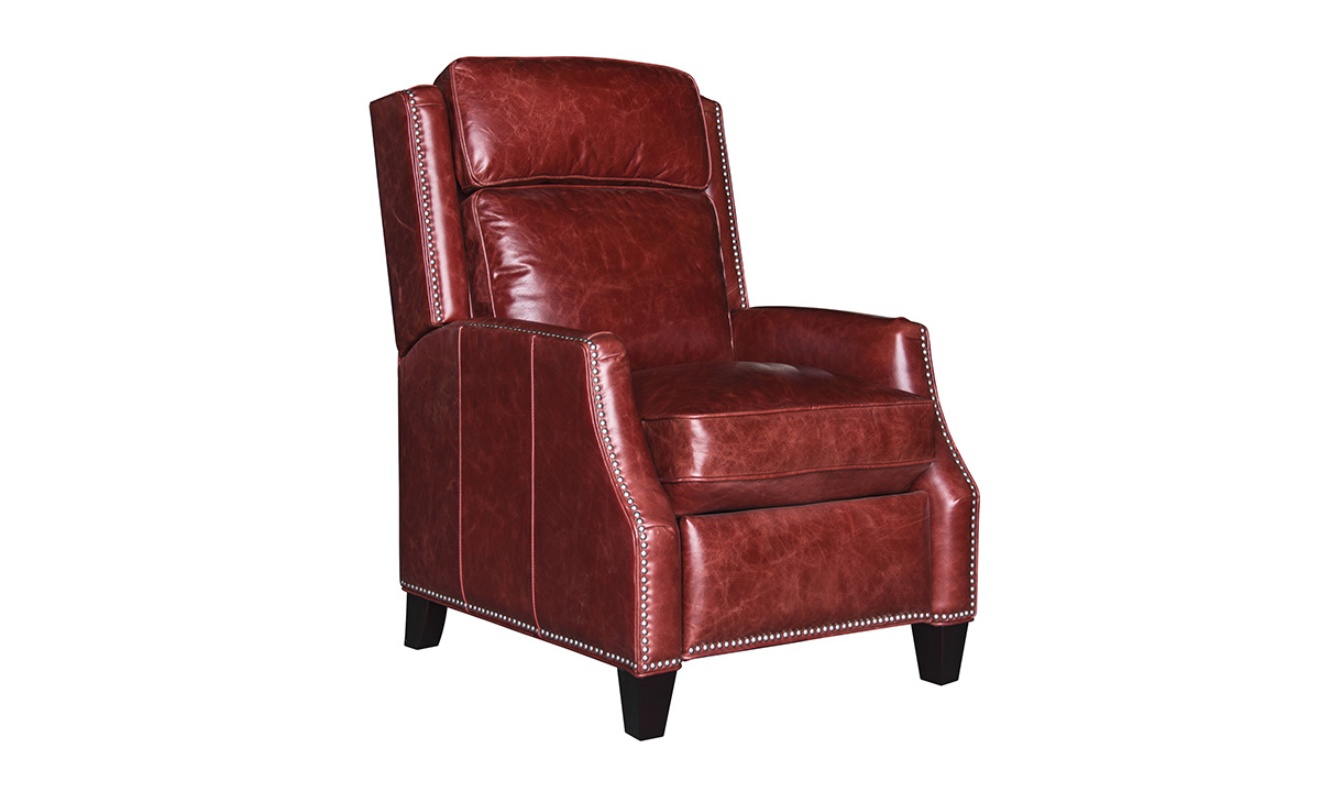 Old West Rosso Garnet Leather Recliner
