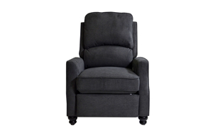 Transitional Bustle-Back Recliner Grey