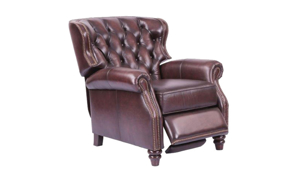 Maple Tufted Top-Grain Leather Recliner