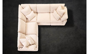 Jessica Jacobs Luxe Sand Lounge Slipcovered Sectional