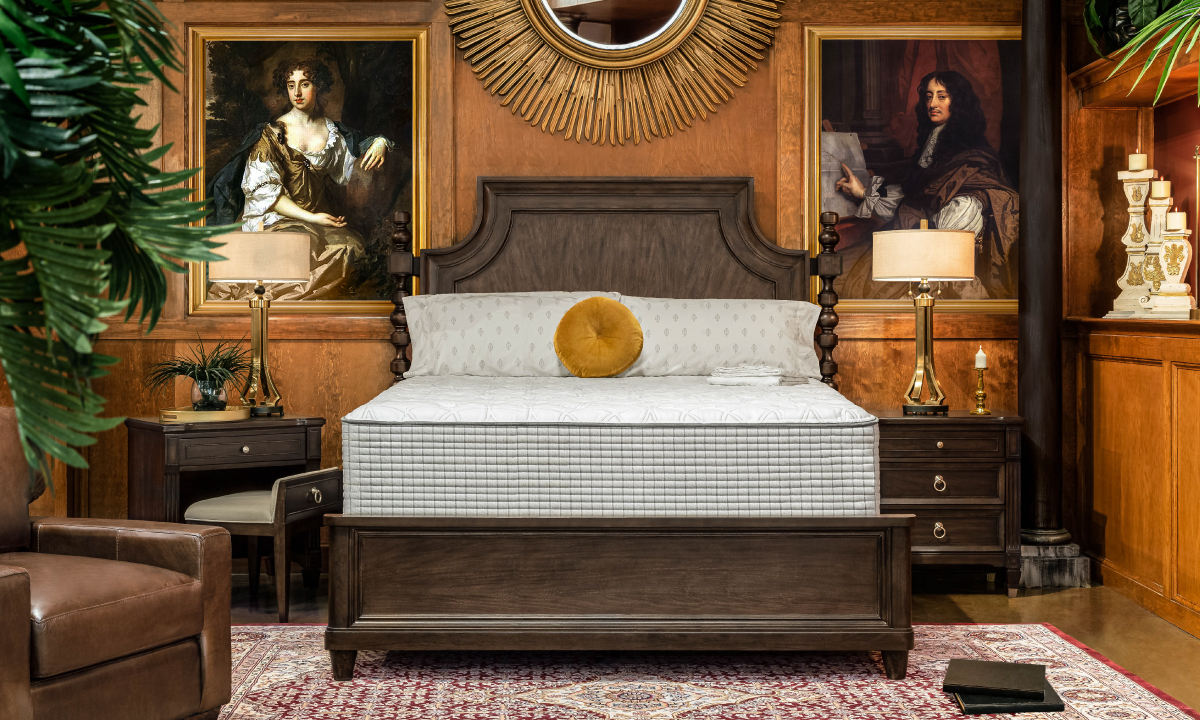 """Picture of Restonic 13"""" Biltmore Tight Top Hybrid Mattresses with Foundations"""