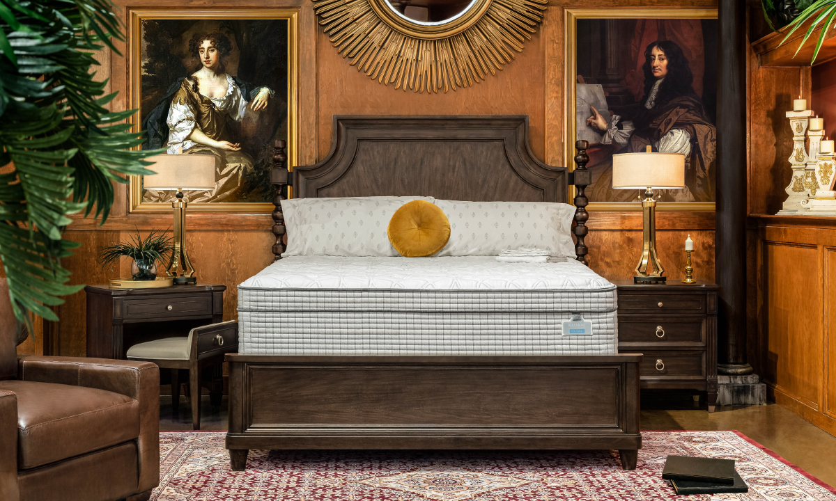 """Picture of Restonic 13"""" Biltmore Euro Top Hybrid Mattresses with Foundations"""