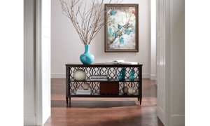 Grantham Hall Coffee Brown Console Table