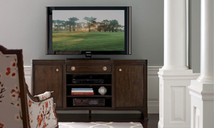 Grantham Hall Coffee Brown Entertainment Console