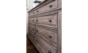 Highland Park Driftwood Upholstered Bedroom Sets