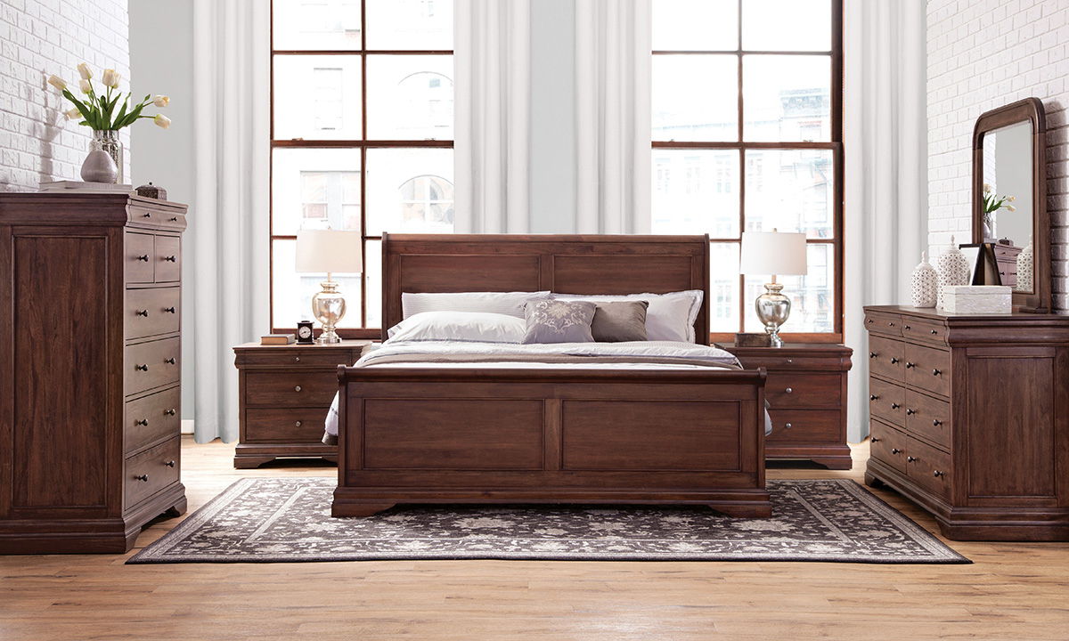 Louis Philippe French Classic Mahogany Bedroom Sets