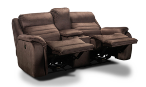 Infinite Motion Essex Brindle Power Reclining Console Loveseat