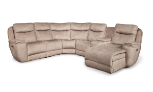 Infinite Motion Showstopper Driftwood Chaise Sectional