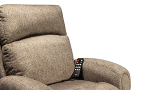 Picture of Infinite Motion Saturn Driftwood Zero Gravity Power Recliner with SoCozi™ Massage