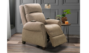 Infinite Motion Saturn Driftwood Zero Gravity Power Recliner with SoCozi™ Massage