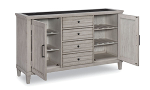 Belhaven Weathered White and Marble Credenza
