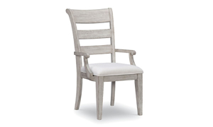 Belhaven Weathered White Dining Arm Chair