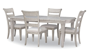 Belhaven Weathered White 5-Piece Dining Set