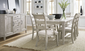 Belhaven Weathered White 7-Piece Dining Set