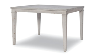 Belhaven Weathered White Pub Height Dining Table