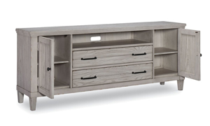 Belhaven Weathered White Entertainment Console
