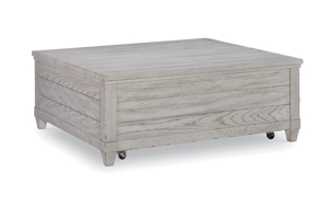 Belhaven Weathered White Lift Top Cocktail Table