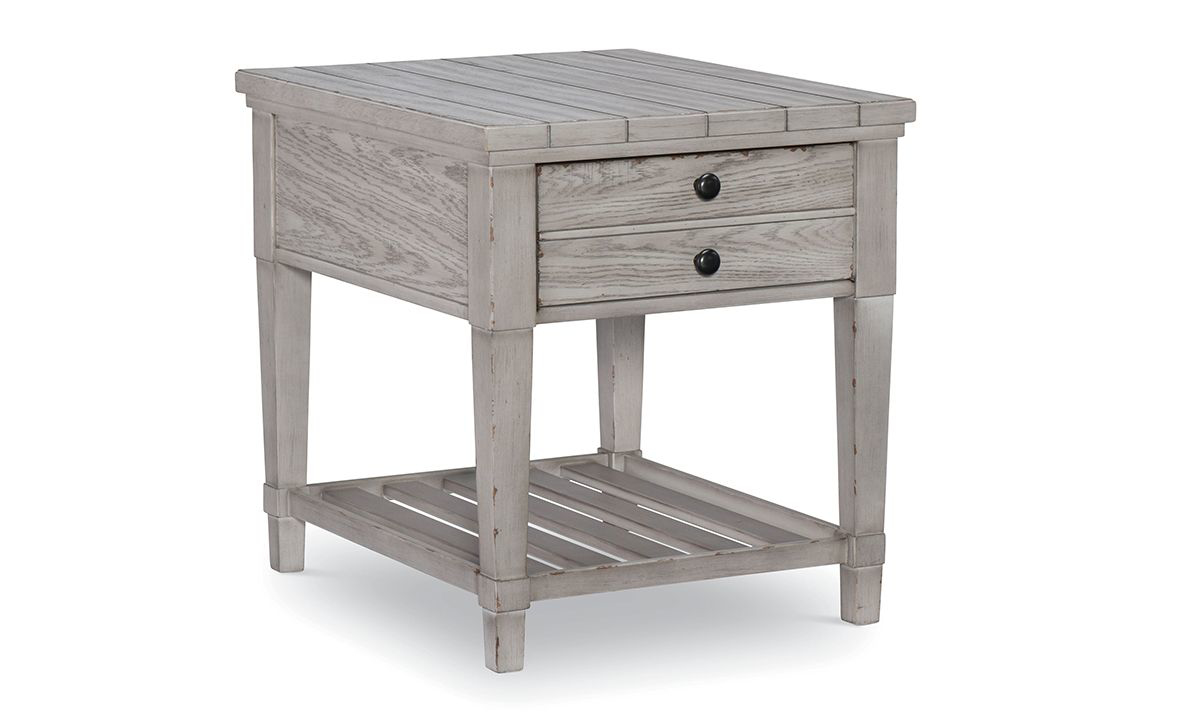 Belhaven Weathered White 1-Drawer End Table