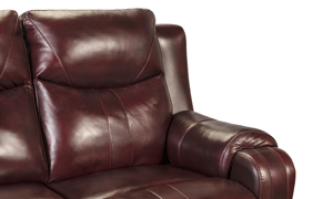 Infinite Motion Marvel Chianti Leather Power Reclining Sofa with Power Headrest