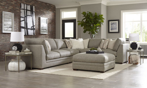 Carolina Custom Holloway 4-Piece Sectional Warm Grey