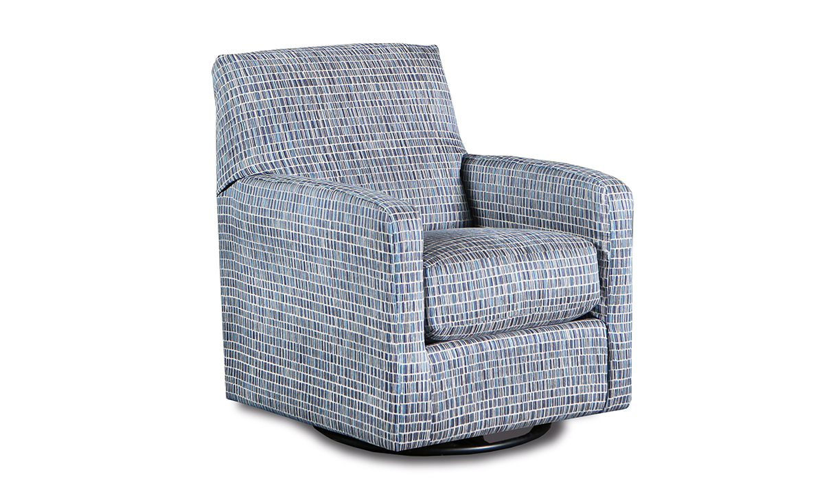 Infinite Motion Metro Denim Swivel Glider Chair