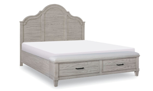 Belhaven Weathered White Storage Beds