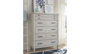 Belhaven Weathered White 5-Drawer Chest