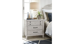 Picture of Belhaven Weathered White 3-Drawer Nightstand
